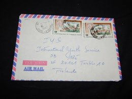 Ivory Coast 1992 Philately Stamp Cover To Finland__(L-3083) - Francobolli Su Francobolli