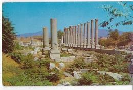 TURCHIA - IZMIR - ROVINE ROMANE - VIAGGIATA 1959 FRANCOBOLLO ASPORTATO - Turchia