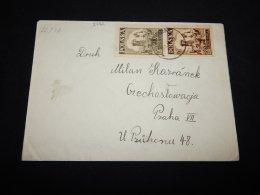 Poland 1947 Imperforate Stamps On Cover__(L-2782) - 1944-.... République