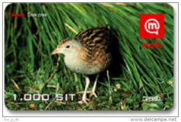 Slovenia - Mobi GSM Recharge Card - Bird - Corncrake-  1000SIT - 31/12/2008 - Slovenia