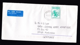 Cuba: Airmail Cover To Germany, 2008, 1 Stamp, Crocodile, Animal, English Air Label (traces Of Use) - Cuba