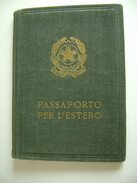 PASSAPORTO  FUORI  CORSO   TESSERA DI RICONOSCIMENTO   CITTADINO  CASTELNUOVO DAUNIA  FOGGIA   ARCH TESSERE - Documenti Storici