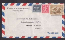 Cuba: Airmail Cover To Germany, 1956, 3 Stamps, Bird, Building, TB Disease, Child, Health (traces Of Use) - Cuba