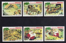 Dominica 1981 Commonwealth Christmas Disney Santa Cartoon Animation Holiday Celebrations Stamps (20) MNH SG 754-762 - Childhood & Youth