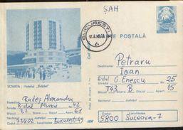 """Romania - Postal Stationery Postcard Used 1989 - Spa Resort Sovata - """"Bradet"""" Hotel - Postal Stationery"""