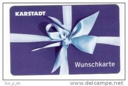 Germany - Karstadt - 1. Karte  - Geschenkgutschein - Giftcard - Gift Card - Gutschein Card - Gift Cards