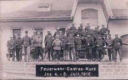 Sapeurs Pompiers, Feuerwehr - Cadres - Kurs,  Ins En Suisse 1916 (4-8.7.1916) - Sapeurs-Pompiers