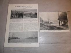 """Origineel Knipsel ( 682 ) Uit Tijdschrift  """" Ons Volk Ontwaakt """"  :  Overstroming Te Hamme  &  Moerzeke  1929 - Old Paper"""