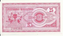 MACEDOINE 25 DENARI 1992 UNC P 2 - Macédoine