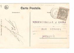 TP 1c Armoiries S/CP Floreffe Séminaire Vue Du Tienne-Baudet C.Ambulant BXL-Luttre-Namur 2 12/9/1906 V.Woluwé AP1089 - Marcophilie