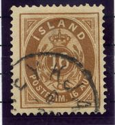 ICELAND 1876 16 Aurar Perforated 14:13½, Used.  Michel 9A - 1873-1918 Danish Dependence