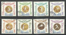 """Rumänien 2345-2352 """"8 Briefmarken Mit Abbildern Von Medaillen Zu Der Oly. Rom '60, Gezähnt """" Gestempelt, Mi. 2,20; - Oblitérés"""