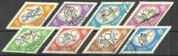 """Rumänien 2309-2315 """"8 Briefmarken Mit Abbildern Von Sportarten Zu Der Oly.Tokio '64, Gezähnt """" Gestempelt, Mi. 2,20; - Oblitérés"""