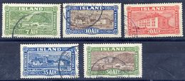 ICELAND 1925 Views Definitives Used.  Michel 114-18 - Used Stamps