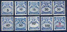 DANZIG 1923-27 Postage Due Set Of 10   LHM / *.  Michel Porto 30-39 - Danzig