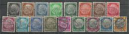 """Deutsches Reich 512-528 """"  17 Briefmarken Hindenburgsatz Kpl. Mit WZ Kreuze """" Gestempelt, Tip-top  Mi.: 10,00 - Gebruikt"""