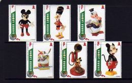 Sierra Leone 1995 Christmas Antique Disney Toys Mickey Donald Cartoon Art Animation Stamps (26) MNH Scott 1833-1838 - Dolls