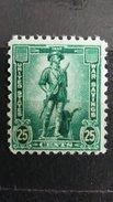 ULTRA RARE 25 CENTS US USA WAR SAVINGS 1942  UNUSED ORIGINAL GUM STAMP TIMBRE - Unused Stamps