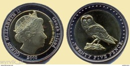 TRISTAN Da CUNHA Gough Islands 2009 25 Pence Bimetal Owl UNC - Sonstige Münzen