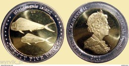 TRISTAN Da CUNHA Nightingale Islands 2011 25 Pence Bimetal UNC - Monete