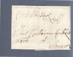 1693 Liège Luik To Antwerp Guillaume Forckoudt  (EO1-24) - 1621-1713 (Spanische Niederlande)