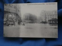 Inondations De Paris Janvier 1910  Gare St Lazare  Pompe  Commerce Armes Chasse - R142 - Inondations De 1910