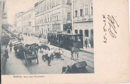 BRESIL  BRASIL  BAHIA CPA Animaçào  Rua Das PRINCEZAS  BONDE  1904 - Salvador De Bahia