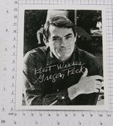 GREGORY PECK - Vintage PHOTO Autograph REPRINT (OST-8) - Reproductions