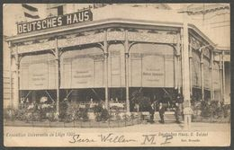 Exposition Universelle De Liège 1905; Deutsches Haus G. Seidel. Gelaufen Aber Marke Entfernt. - Alemania