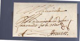 1678 Jeanne Van Passe Lille To Antwerp Mme La Defue Fourcauldt Sur Le Mer (EO1-27) - Sonstige