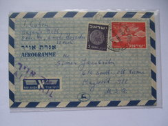 ISRAEL - Aerogramme 50 Cents - Emek Hayarden To USA - Airmail