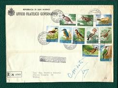 SAN MARINO 1960 - Fauna Avicola - 10 Valori Su Busta - Sa:SM 510-19 - FDC