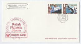 1988 GB EVENT COVER Stamps STEAM TRAIN, SHIP Cover Presented To Philatelic Bureau Customers Edinburgh, Railway - Trains