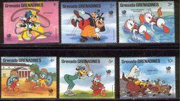 Grenada 1988 Disney Olympic Games SEOUL Mickey Cartoon Animation Sports Swimming Horses Stamps (28) MNH SC 939-944 - Horses