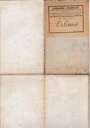 ORLEANS Et Sa Partie à Droite (  Jusqu'à Montargis , Auxerre Et La Chapelle D'Angillon - 72,5 Cm  X 51,5 Cm )  1/200,000 - Geographical Maps