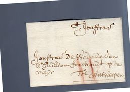 1639 Oteurico Huijsman Bruxelles To Guillaume Forchond Antwerp (EO1-33) - 1621-1713 (Spaanse Nederlanden)