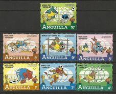 Anguilla 1982 Spain Espana World Cup Soccer Football Disney Cartoon Animation Games Sports Stamps (19) Michel 501-507 - Disney