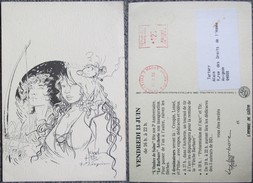 Loisel Crespin Ptiluc - Rare Et Belle Carte Postale Dessin Inedit 1986 - Cartes Postales