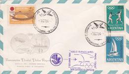 Argentina 1964 Buenos Aires-Paris-Tokyo Flight - Jeux Olympiques