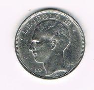 )  LEOPOLD III  20 FRANK   1934 B FR/VL  POSITIE B - 1934-1945: Leopold III