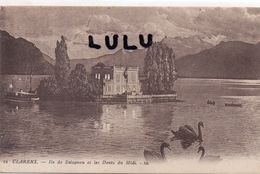 SUISSE : édit. L L N° 12 : Clarens Ile De Salognon Et Les Dents Du Midi ( Cygnes ) - VD Vaud