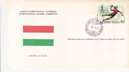 Hungary 1980 Moscow Olympic Games, CIO, Souvenir Cover - Summer 1980: Moscow
