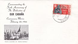 Mexico 1966 Mexico Olympic Games, Carnavaca Postmark, Souvenir Cover - Summer 1968: Mexico City