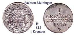 DL-1812 , 1 Kreutzer,  Sachsen-Meiningen - Piccole Monete & Altre Suddivisioni