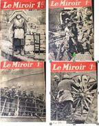 4 Numéros LE MIROIR - Nouvelle Série - N° 27 - 36 - 38 - 39 - De Mars 1940 à Mai 1940 - Bücher, Zeitschriften, Comics