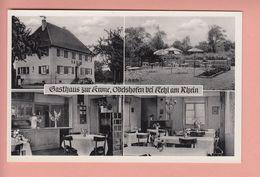 OLD POSTCARD   GERMANY - GASTHAUS ZUR KRONE - ODELSHOFEN BEI KEHL - Kehl