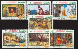 Anguilla 1982 Christmas Winnie The Pooh Disney Cartoon Art Child Stories Film Animation Stamps (7) MNH Michel 515-521 - Disney