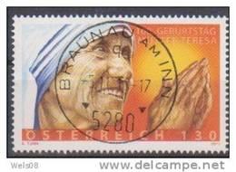"""Österreich 2010: """"Mutter Theresa"""" Gestempelt (siehe Scan/Foto, Jedoch Ohne Randanhang) - 1945-.... 2. Republik"""