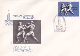 Russia 1980 Moscow Olympic Games, Boxing, Souvenir Cover - Summer 1980: Moscow