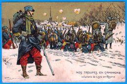 A LA BELLE JARDINIERE MAISON ROUCHON RIOM 63 NOS TROUPES EN CAMPAGNE - SITE Serbon63 DES MILLIERS D'ARTICLES EN VENTES - Guerre 1914-18